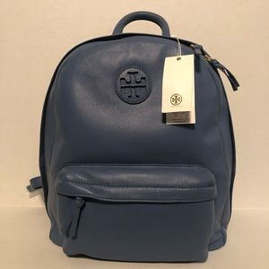 Tory Burch Blue New w/Tags Leather Backpack